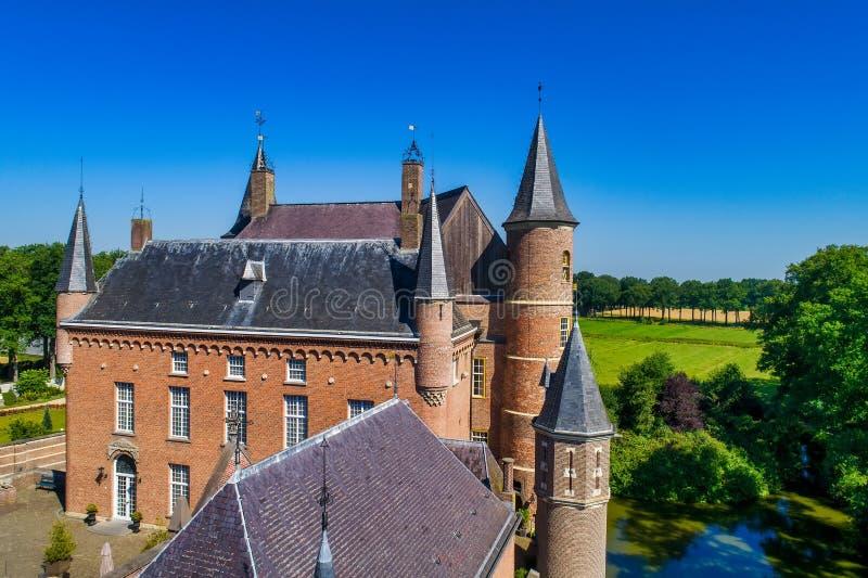 Vogelperspektive von Heeswijk-Schloss stockfoto