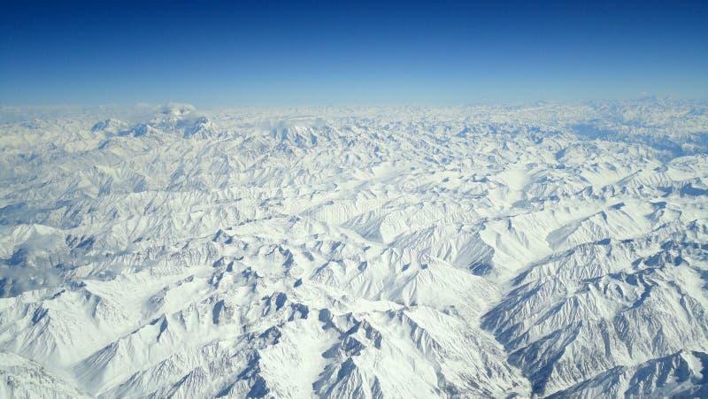 Vogelperspektive von Himilaya-Gebirgszug 39.000 lizenzfreie stockfotografie