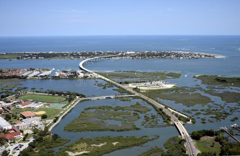 Vogelperspektive von im Stadtzentrum gelegenem St Augustine lizenzfreie stockbilder