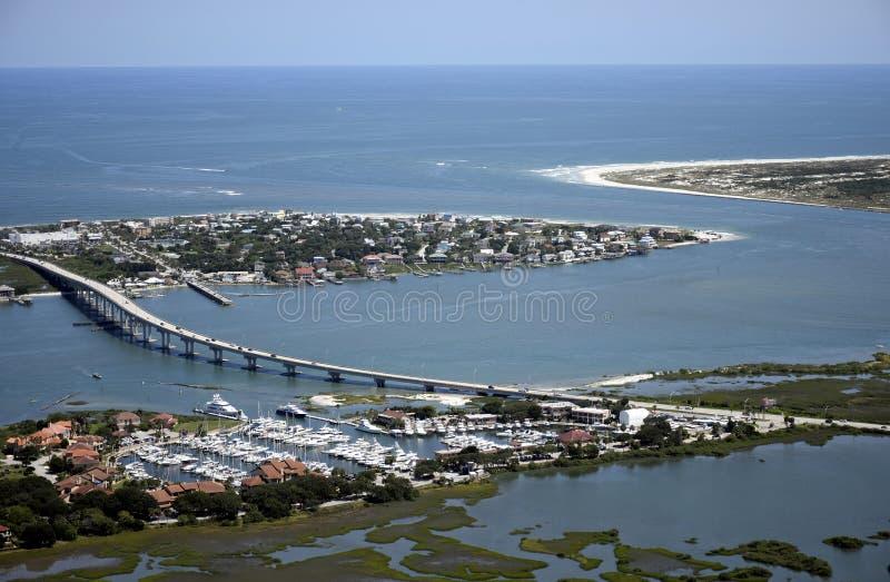 Vogelperspektive von im Stadtzentrum gelegenem St Augustine lizenzfreies stockbild