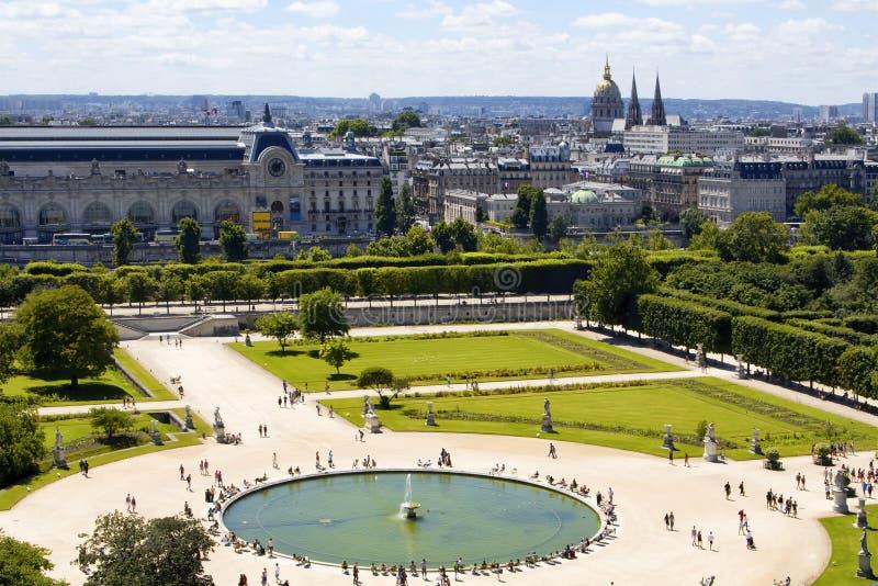 Vogelperspektive Von Jardin DES Tuileries Stockbild - Bild von ...
