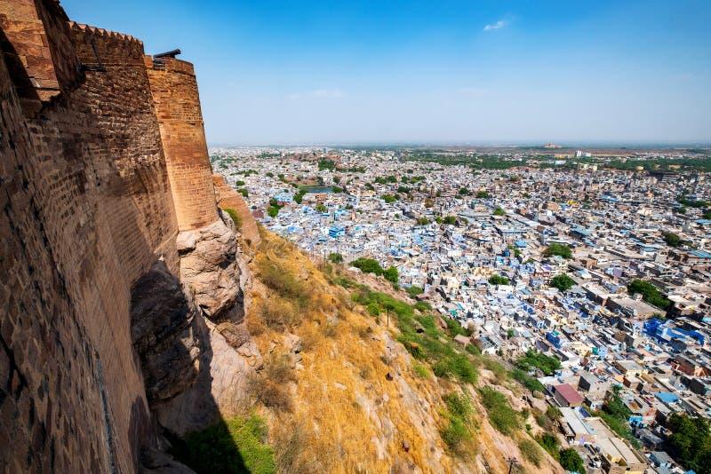 Vogelperspektive von Jodhpur-Stadt, Rajasthan, Indien lizenzfreies stockfoto