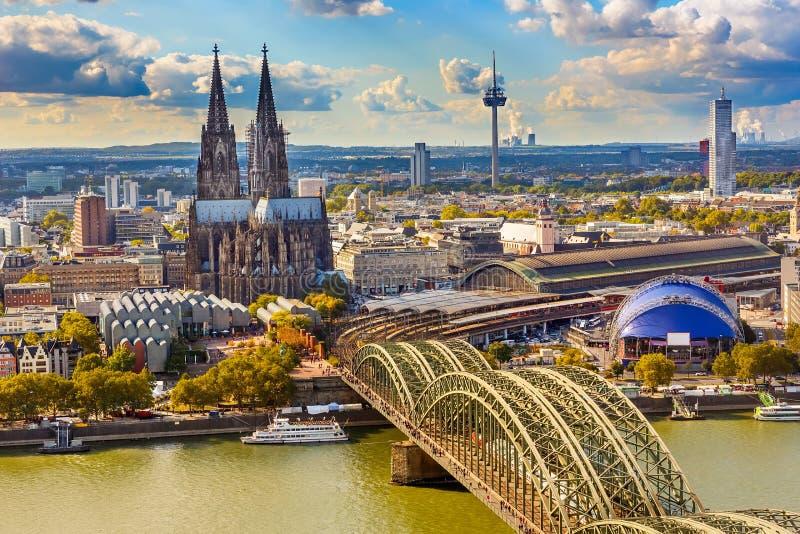 Vogelperspektive von Köln stockfoto