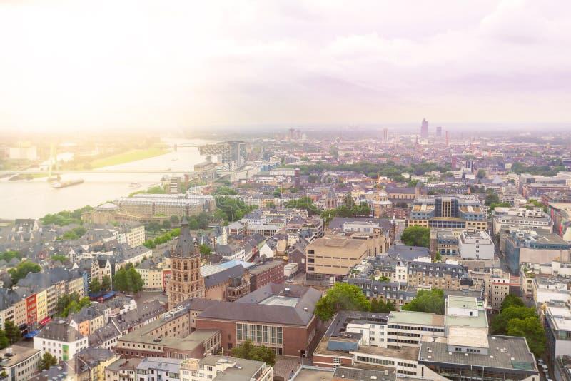 Vogelperspektive von Köln von Dom Cathedral stockbilder