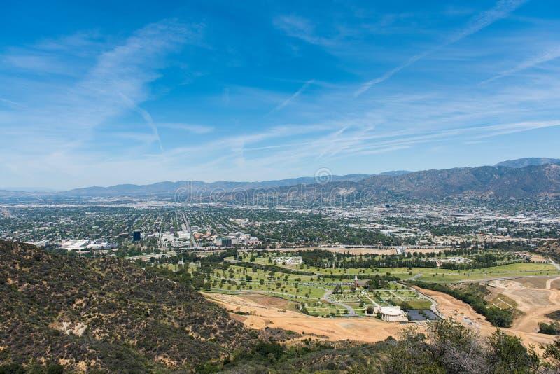 Vogelperspektive von Los Angeles-Stadt lizenzfreie stockbilder