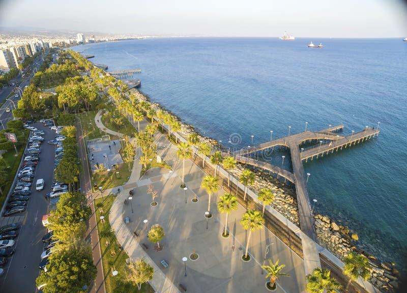 Vogelperspektive von Molos, Limassol, Zypern stockfoto