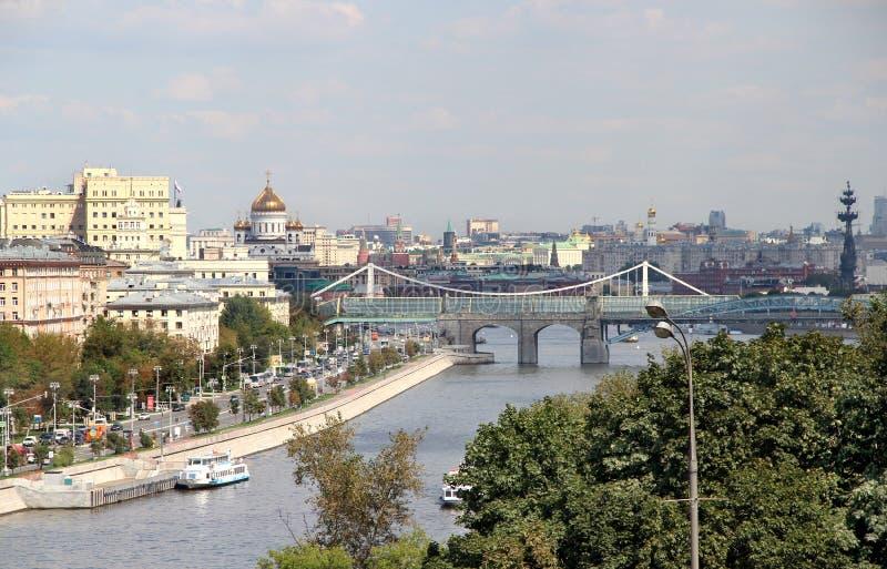 Vogelperspektive von Moskau-Stadt stockfotos