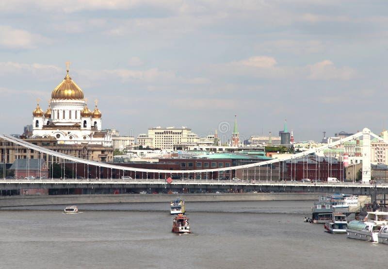 Vogelperspektive von Moskau-Stadt stockfotografie