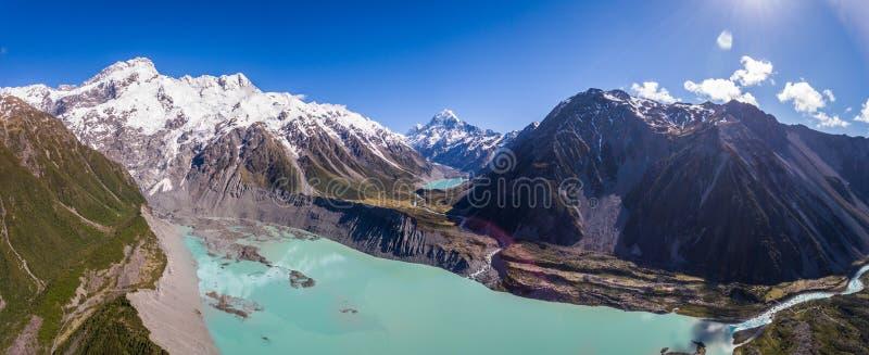 Vogelperspektive von Mt-Koch Landscape, Neuseeland lizenzfreies stockfoto