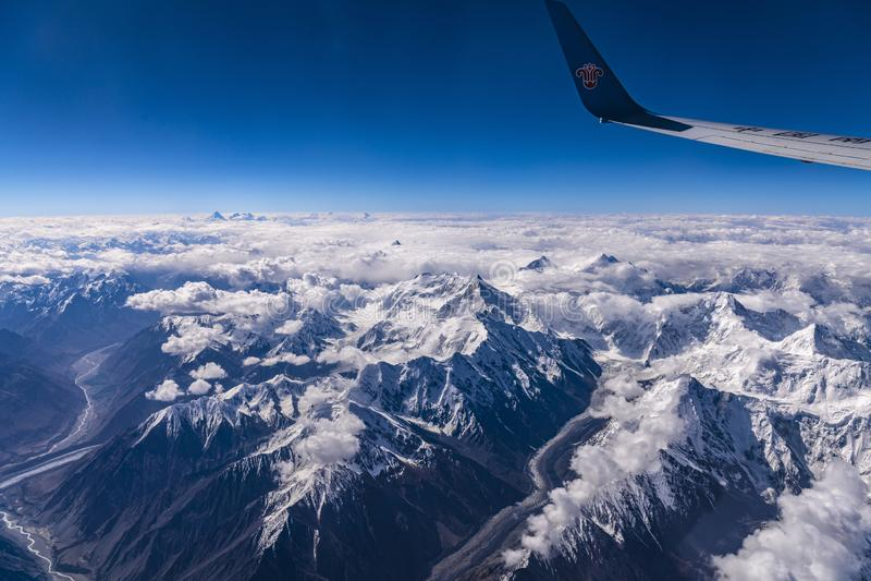 Vogelperspektive von Pakistan Pakistan Karakoram stockbilder