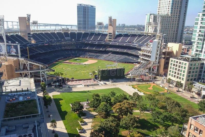 Vogelperspektive von Petco-Park in San Diego lizenzfreies stockbild