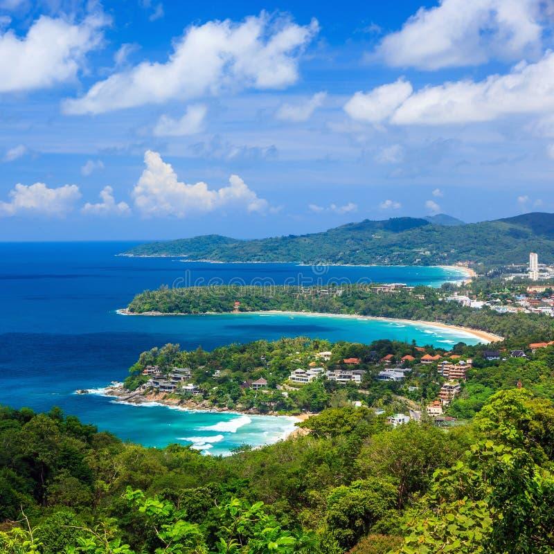 Vogelperspektive von Phuket-Standpunkt in Thailand stockbild