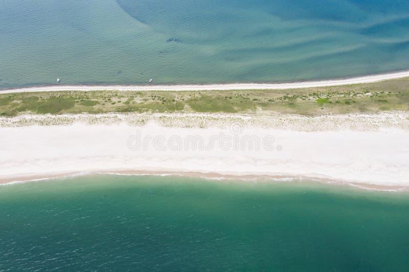 Vogelperspektive von Sandy Island auf Cape Cod, MA stockfotografie