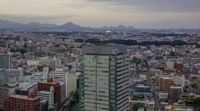 Vogelperspektive von Sendai, Japan lizenzfreies stockbild