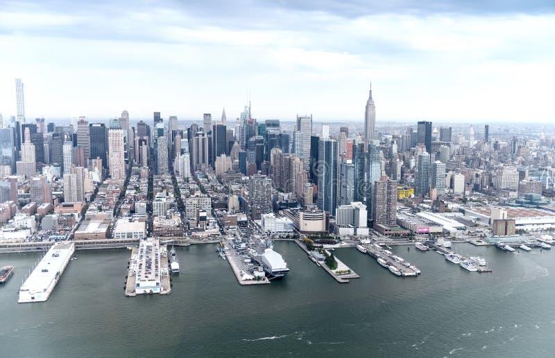 Vogelperspektive von Stadtmitte-Gebäuden, Manhattan - New York City stockbild