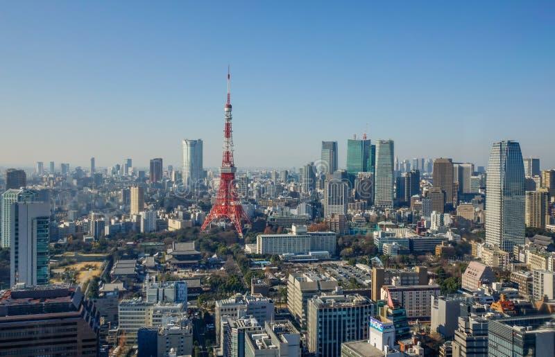 Vogelperspektive von Tokyo, Japan stockbilder