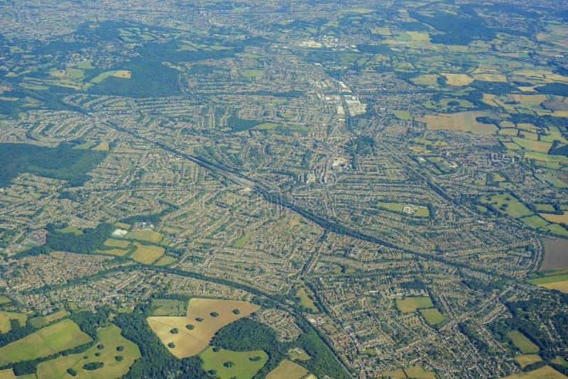 Vogelperspektive von Vereinigtem Königreich lizenzfreies stockbild