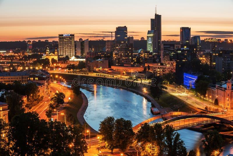 Vogelperspektive von Vilnius, Hauptstadt von Litauen stockbild