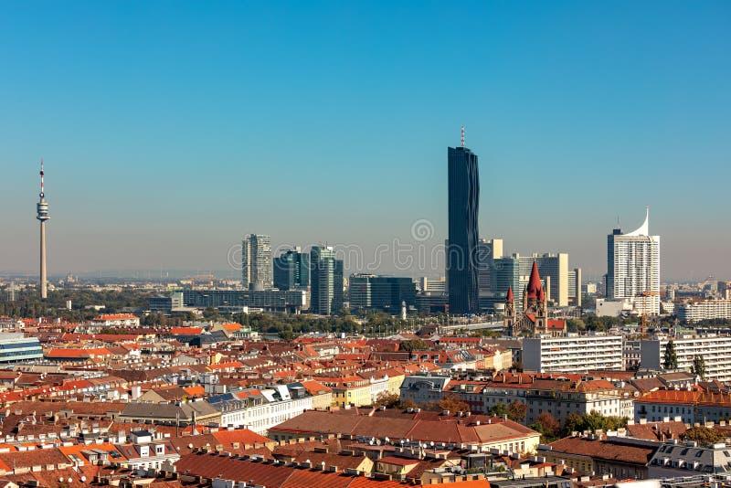 Vogelperspektive von Wien, ?sterreich stockbilder