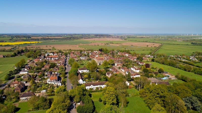 Vogelperspektive von Winchelsea im Ost-Sussex, das kleinste Landhaus stockbild