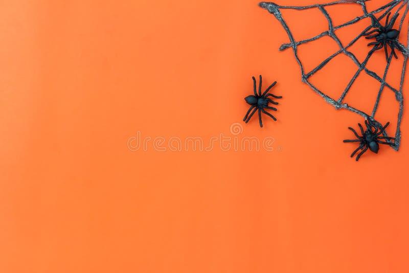 Vogelperspektive Zeichen des glücklichen Halloween-Festivalhintergrundkonzeptes stockbilder