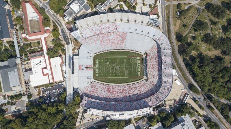Vogelperspektiven von Sanford Stadium stockbild