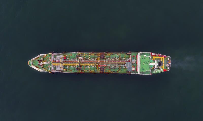 Vogelperspektiverohöltanker logistisch und Transport in lizenzfreie stockbilder