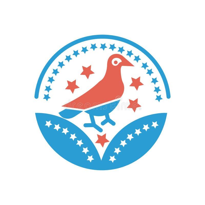 Vogelpreisikonenvektor-Vogelzeichen für Ihre Website oder mobilen Apps lizenzfreie abbildung