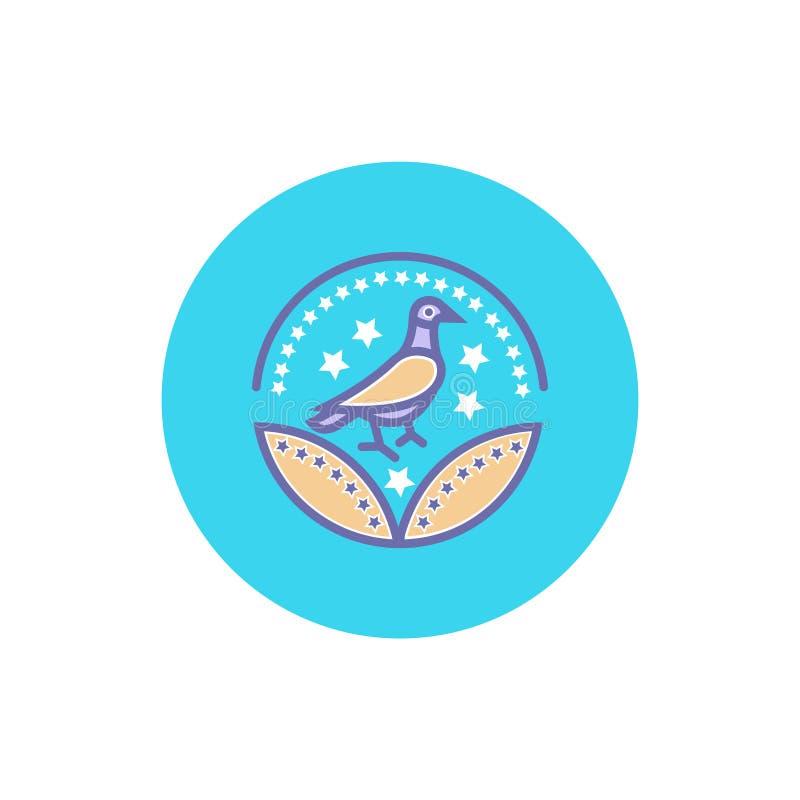 Vogelpreisikonenvektor-Vogelzeichen für Ihre Website oder mobilen Apps vektor abbildung