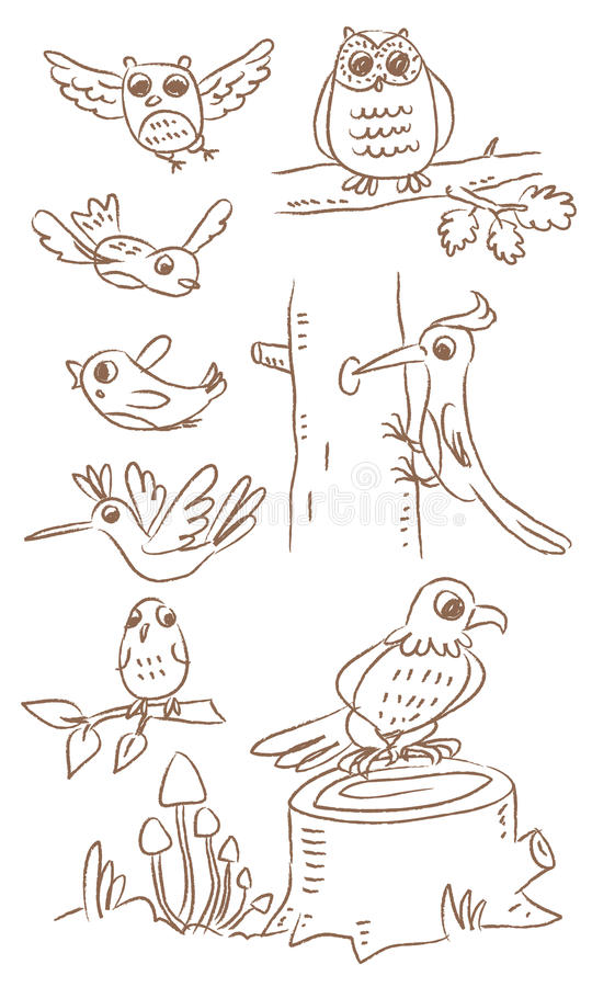 Vogels stock illustratie