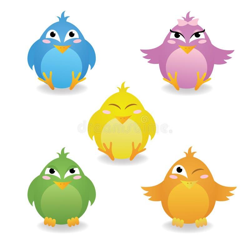 Vogels. Royalty-vrije Stock Afbeeldingen