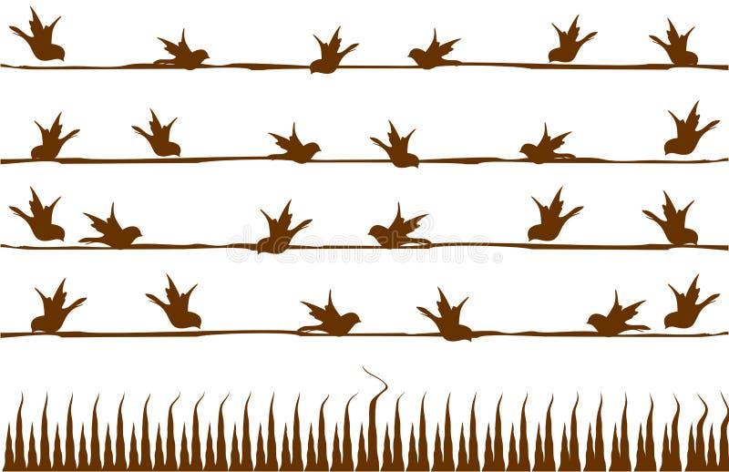 Vogels abstract naadloos patroon vector illustratie