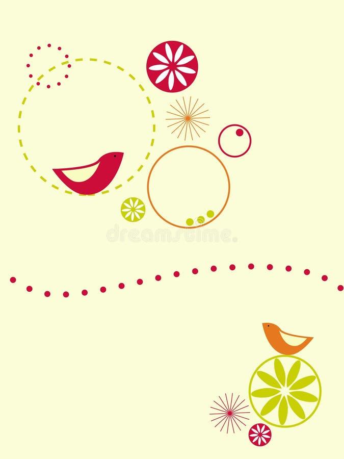 Vogels en cirkels vector illustratie