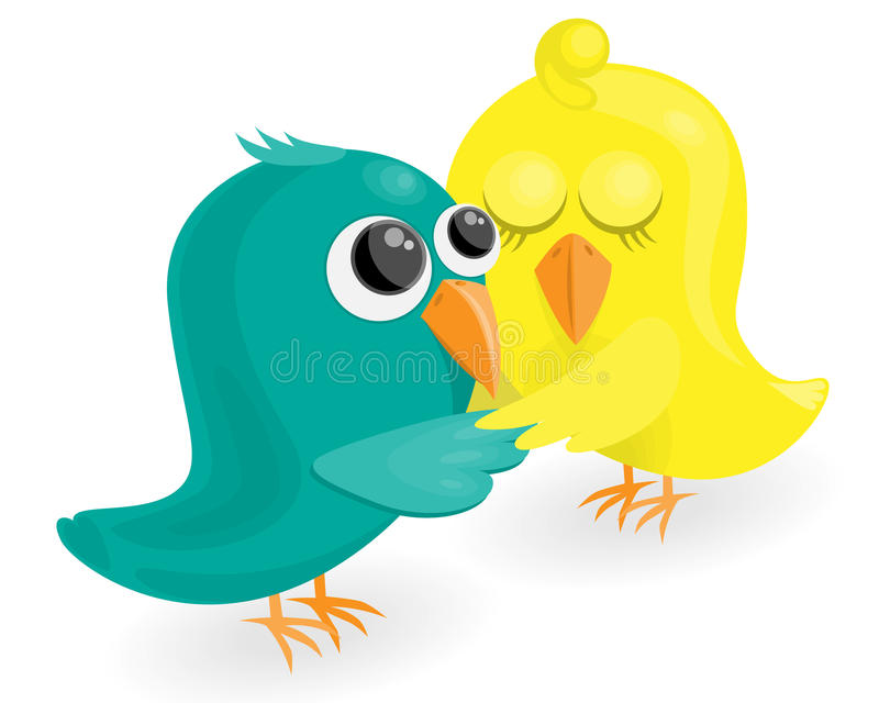Vogels in liefde royalty-vrije illustratie