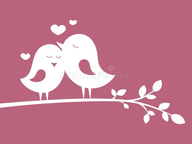 Vogels in liefde 1 royalty-vrije illustratie