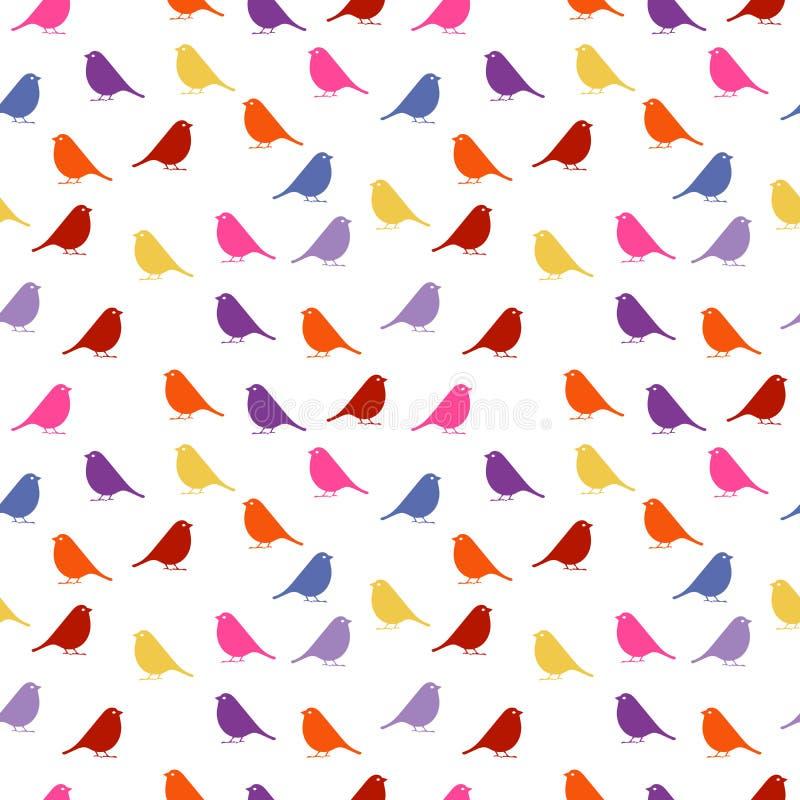 vogels naadloze babyachtergrond met kleurenvogels royalty-vrije stock fotografie