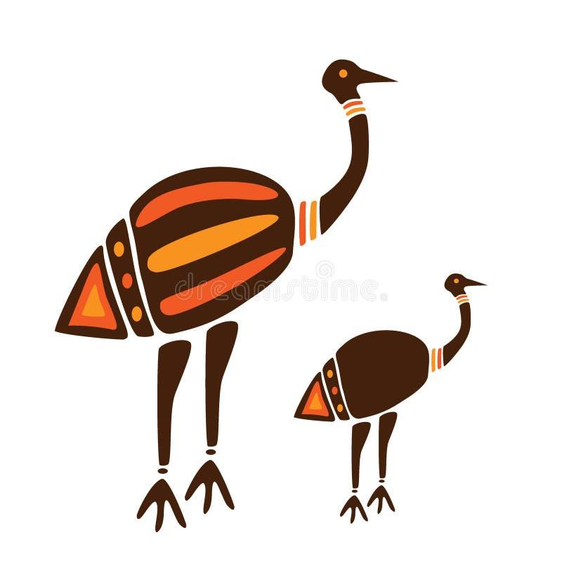 Vogels zoals struisvogel stock afbeelding