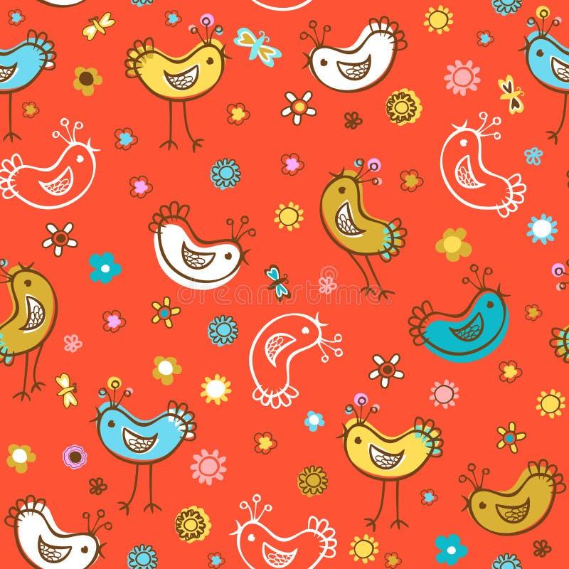 Vogelspatronen stock illustratie