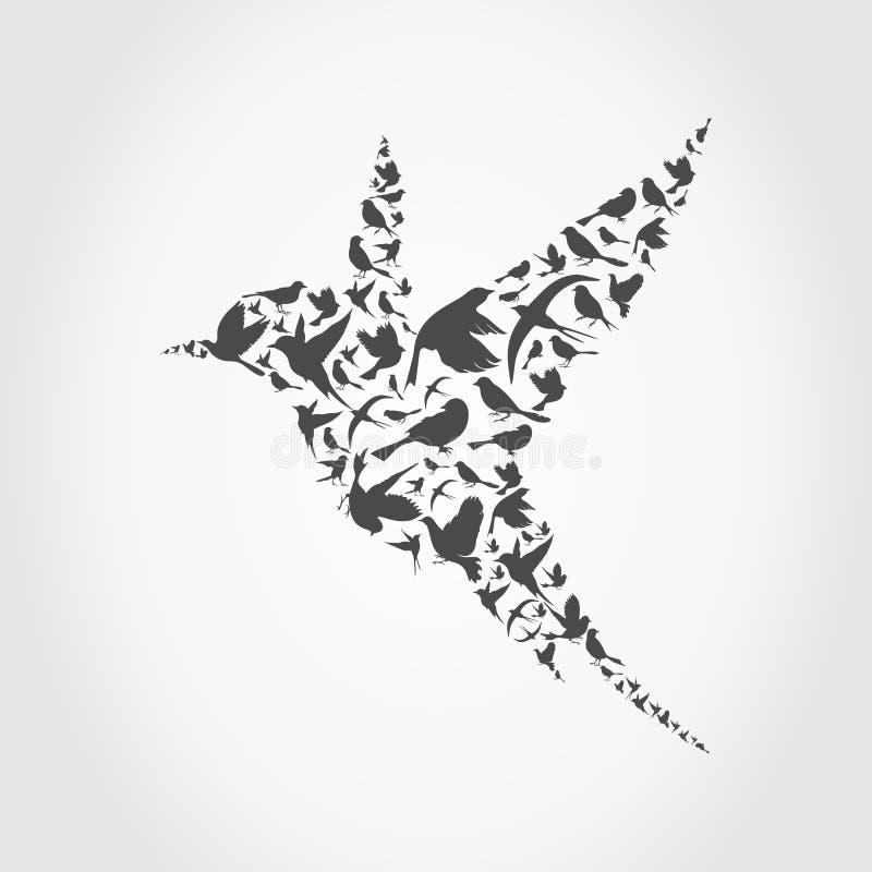 Birdie9 stock illustratie