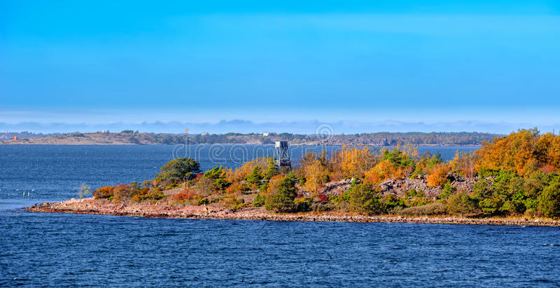 Vogelwatchtower op het Aland-eiland van de archipel royalty-vrije stock foto's