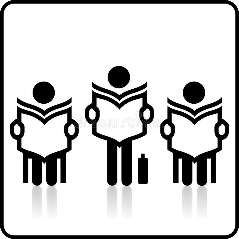 Voglia leggere. illustrazione di stock