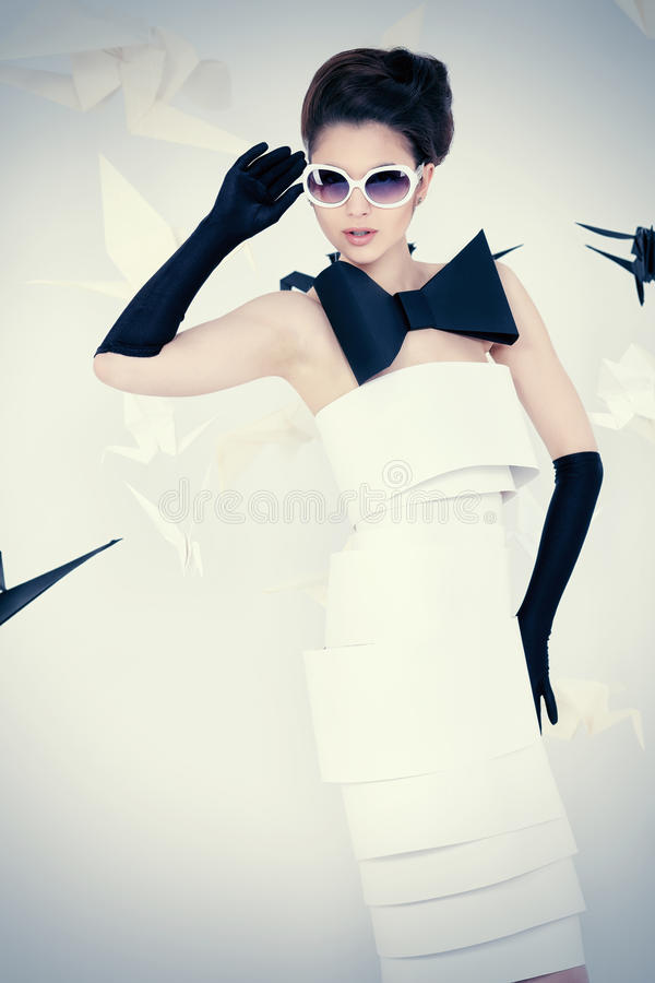 Vogue-Dame lizenzfreie stockfotografie