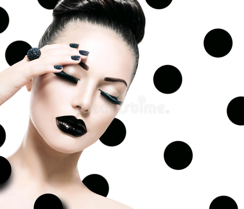 Vogue Style Model Girl royalty free stock image