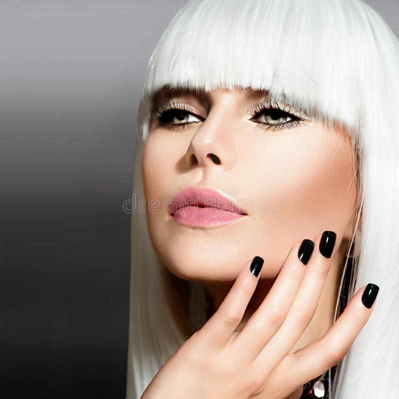 Download Vogue Style Portrait stock photo. Image of fringe, beautiful - 30489344