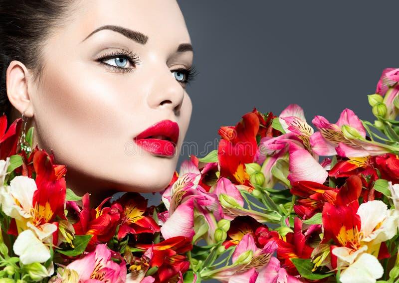 Vogue style woman portrait stock photos