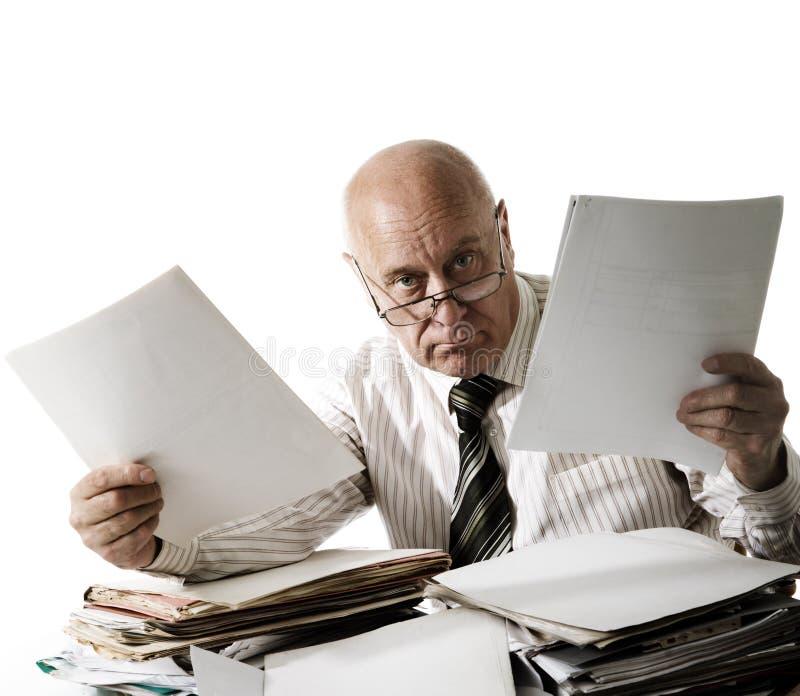 Voi un problema con i documenti! immagine stock