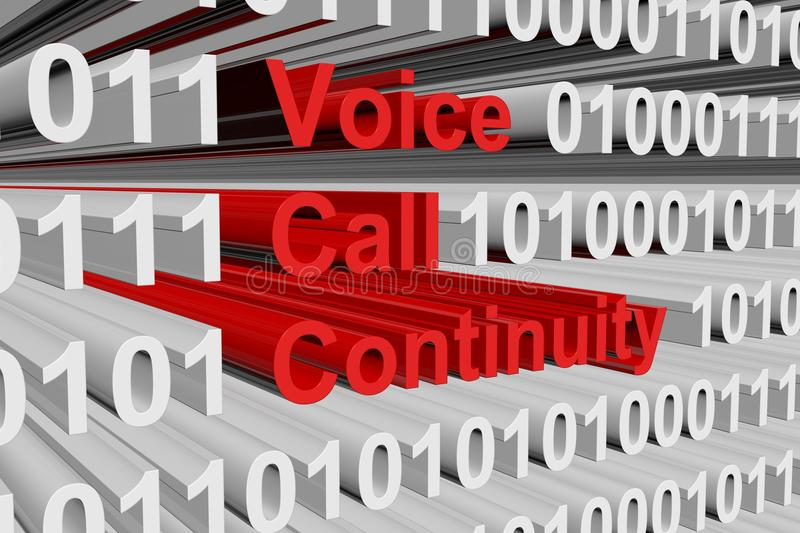 Voice call continuity. In the form of binary code, 3D illustration vector illustration