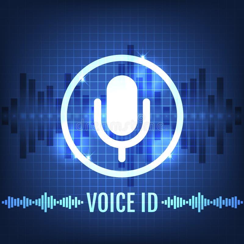 Microphone Icon Futuristic Blue Round Button Vector
