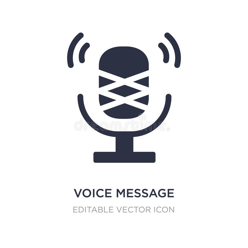 Voice message microphone button icon on white background. Simple element illustration from UI concept. Voice message microphone button icon symbol design stock illustration