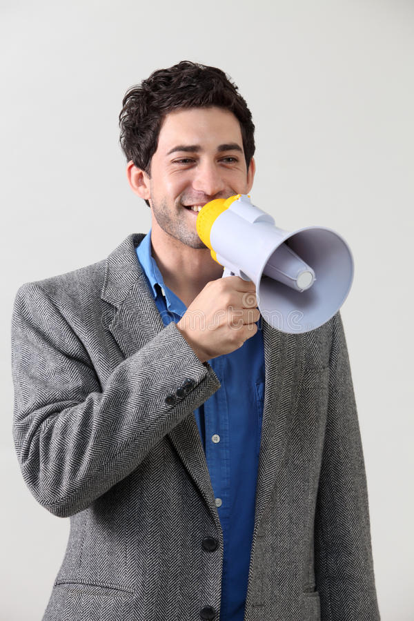 Download Voice out stock image. Image of mouth, megaphone, background - 25053119